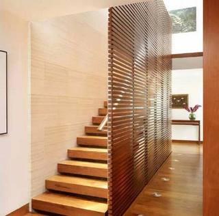 木质装饰隔断构造图