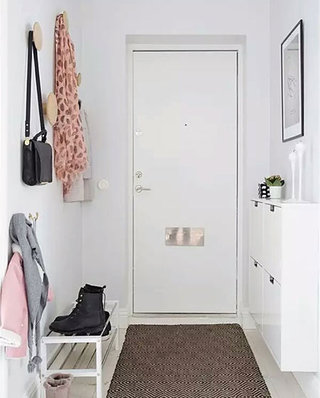 小户型白色玄关鞋柜装修