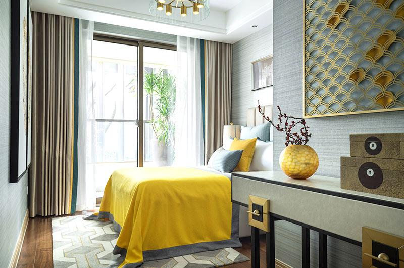 125平中式风格样板房主卧室设计