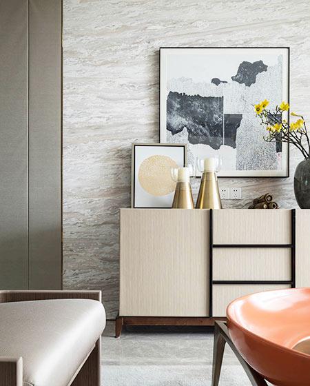 125平中式风格样板房展示柜图片