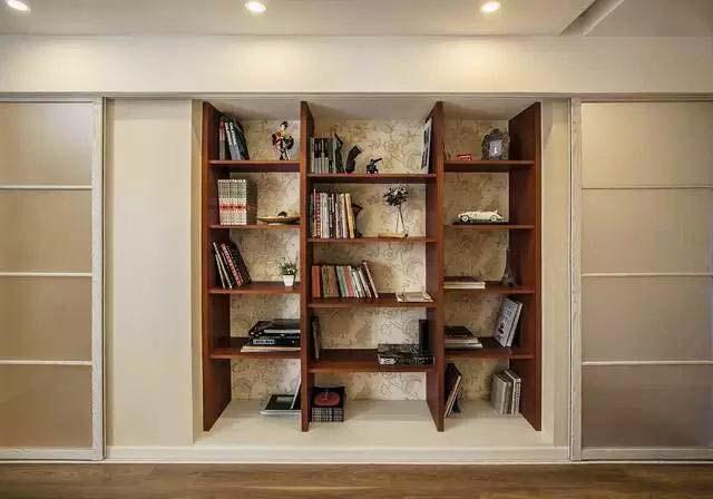 两居室书架收纳图