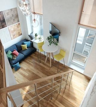 40平时尚loft风格装修效果图 很有小别墅的感觉2/8