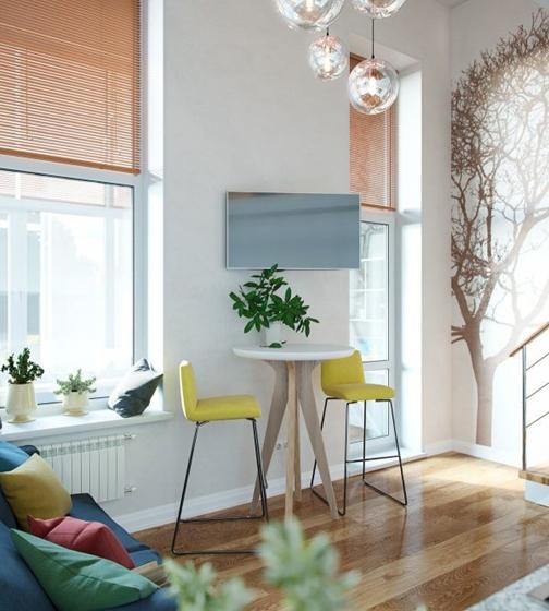 40平时尚loft风格装修小餐桌图片