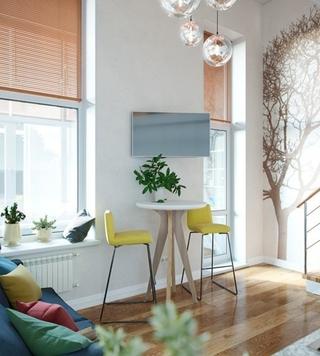 40平时尚loft风格装修效果图 很有小别墅的感觉3/8