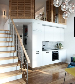 40平时尚loft风格装修效果图 很有小别墅的感觉4/8