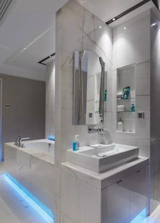 130平复式装修效果图卫浴空间图片
