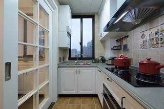 100平美式风格三居室厨房设计