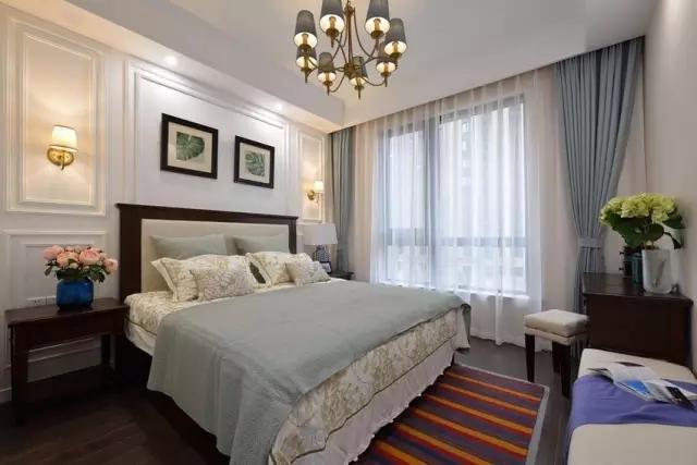 100平美式风格三居室美式卧室设计