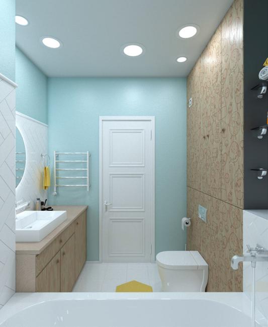 80平时尚个性两居室装修图浴室效果图