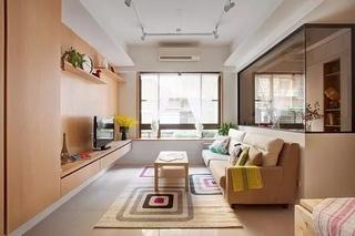 110平清新工业风格装修小客厅设计图