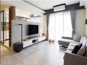 70平两居室北欧风格装修效果图 清新简洁