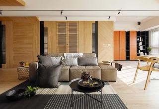 100平原木色两居室装修图片布艺沙发图片