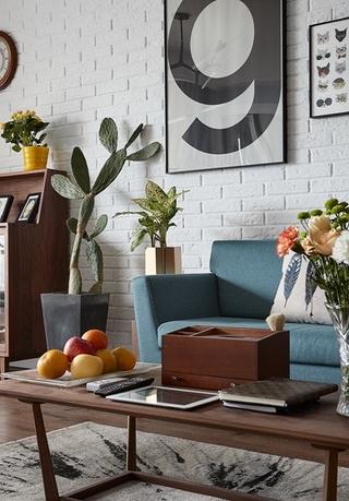 25万搞定90平北欧风格美家布艺沙发