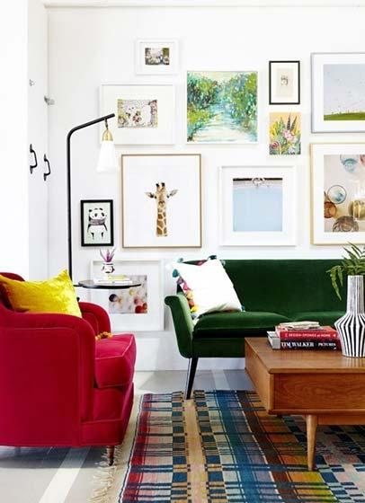 多彩客厅挂画平面图