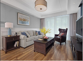 140平简约美式风格装修图 优雅与舒适并存