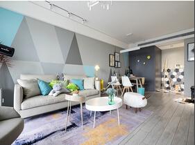 140平简约风格三居室装修 全方位无瑕疵