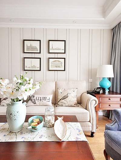 美式客厅装修装饰效果图