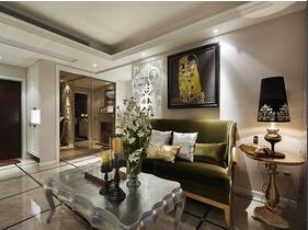 90平混搭风格两居室装修 低调的奢华感