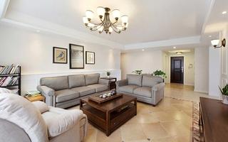 简美风格四居室装修客厅效果图
