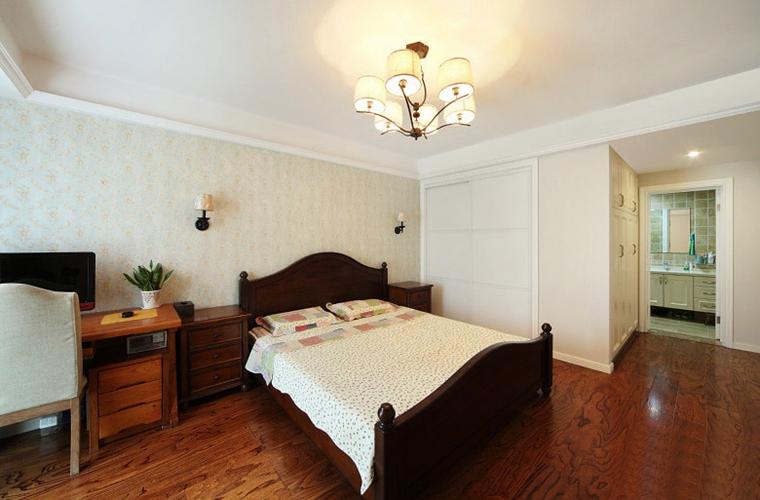 简美风格四居室装修卧室效果图