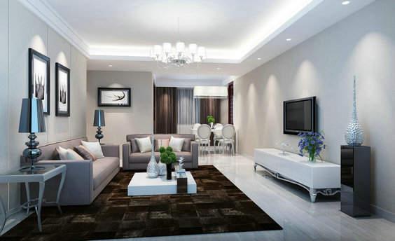 长方形客厅怎么装修好看?长方形客厅装修效果图 北京装修美宅客图片