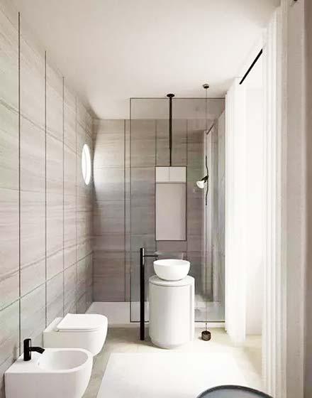 卫生间干湿分离设计实景图