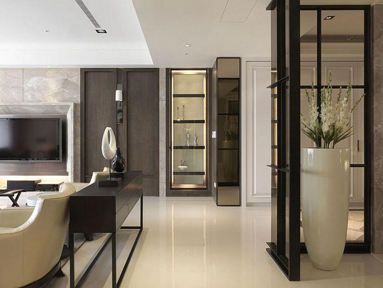 120平中式风格三居室装修隔断设计图