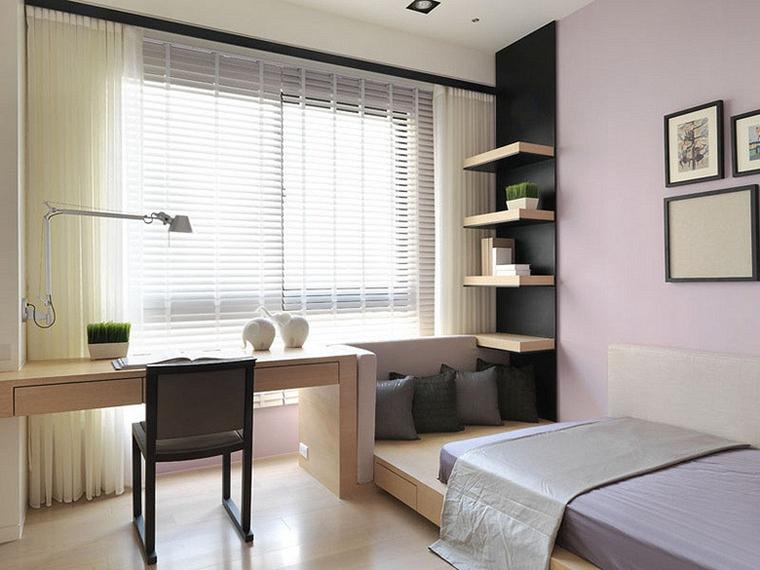 120平中式风格三居室装修小卧室设计图
