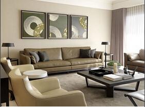 120平中式风格三居室装修 中规中矩的设计