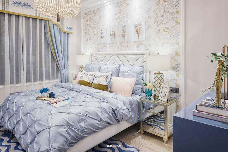 90㎡混搭两居室卧室平面图
