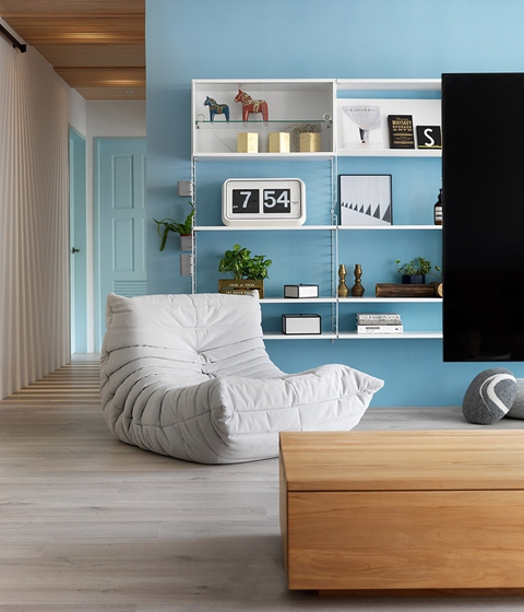 130平三居室台式风格装修收纳架图片
