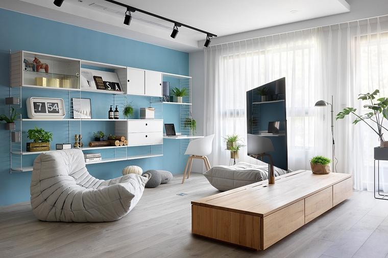 130平三居室台式风格装修电视柜图片