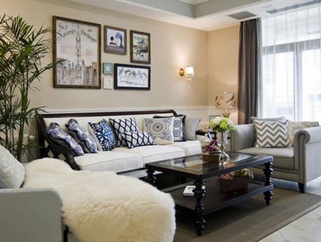法式装修两居室客厅效果图