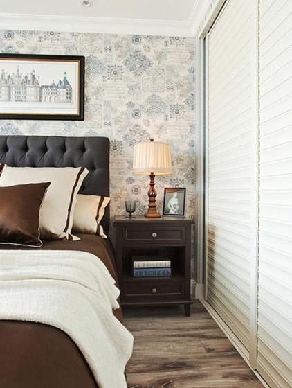 蓝色调欧式风格装修卧室效果图