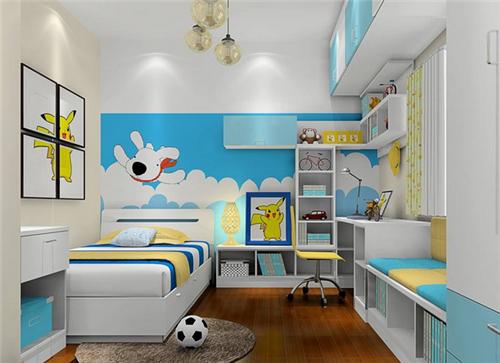男孩儿童房装修效果图 2017炫酷男孩儿童房装修案例图片