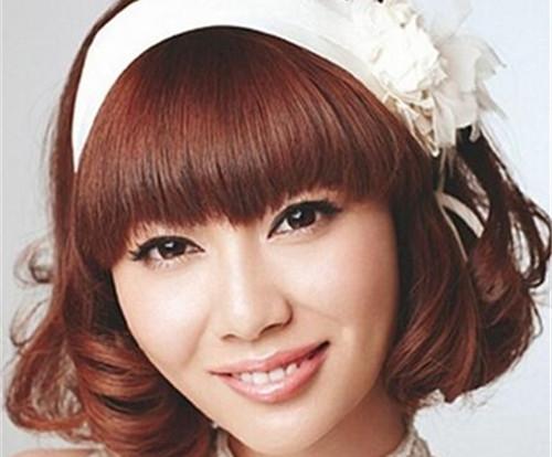 齐刘海新娘发型图片 齐刘海造型步骤详解
