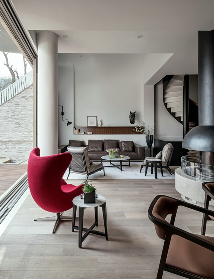 简约风格别墅设计单人沙发图片