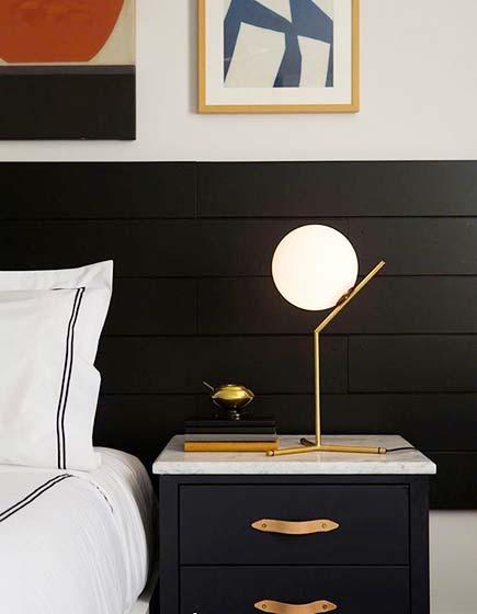 床头台灯装修效果图片