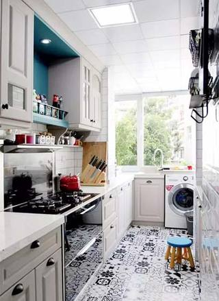 厨房洗衣机布置欣赏图