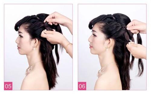 斜刘海新娘发型图片 2017斜刘海编辫子发型图解图片