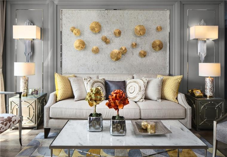 130平混搭风格装修布艺沙发图片