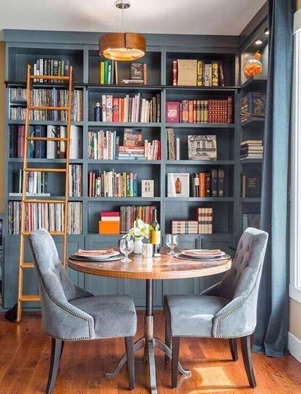 书架背景墙设计平面图