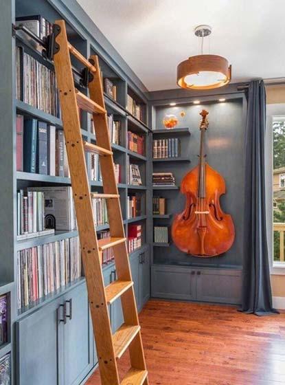 书架背景墙装修欣赏图