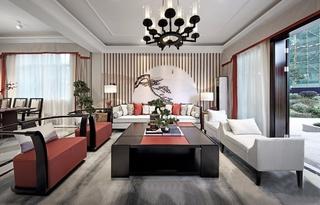 新中式风格四房装修沙发图片