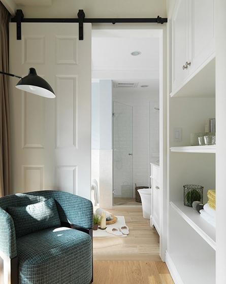 120平美式风格装修单人沙发图片