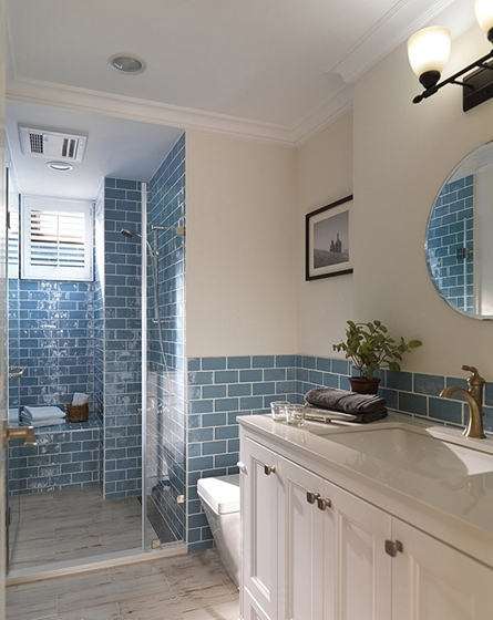 120平美式风格装修浴室图片