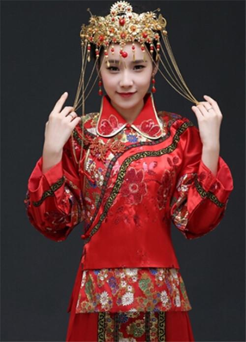 秀禾新娘发型图片欣赏 让咱们头顶凤冠风光出嫁图片