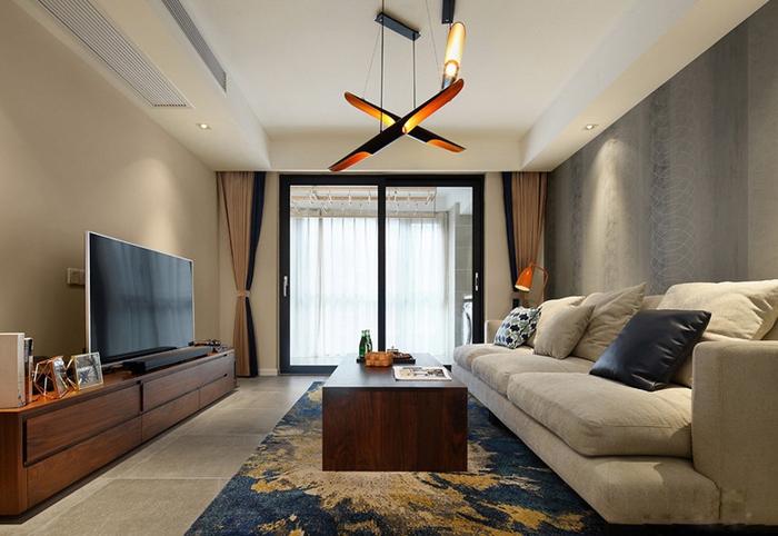混搭风格三居室装修客厅效果图