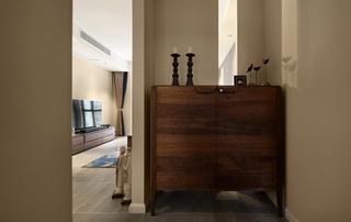 混搭风格三居室装修玄关柜图片