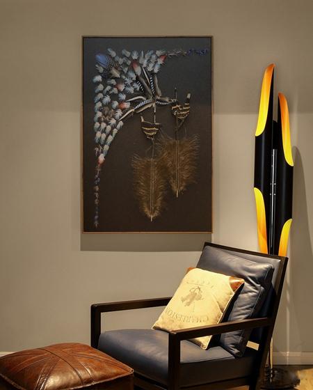 混搭风格三居室装修单人沙发图片